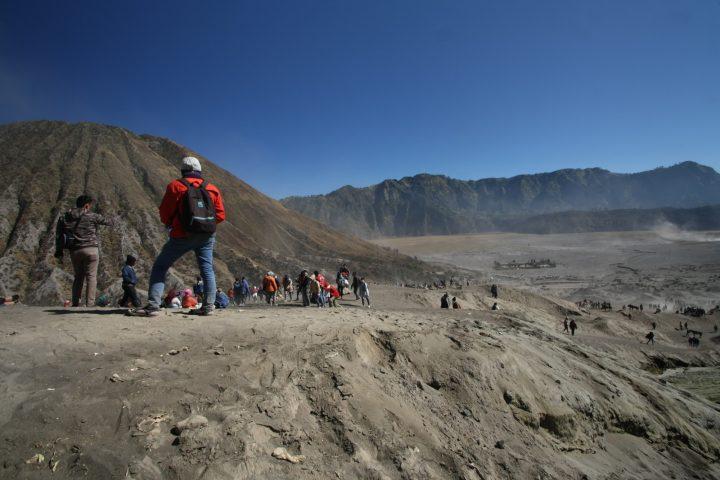 Mendaki menuju kawah Bromo