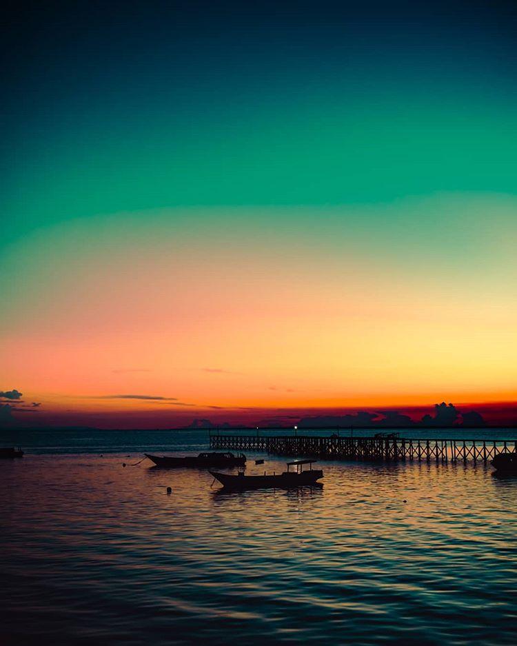 Sunset di Derawan, sumber ig hudatnt